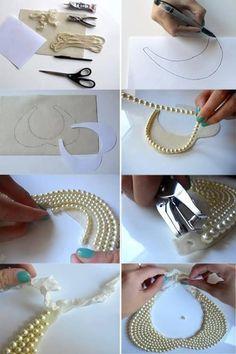 Este cuello hecho con perlas marca tendencias y te hará lucir súper chic #HazloTuMisma