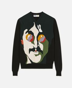 NEW OFFICIAL The Beatles Classic Logo Black Mens Jumper Sweater