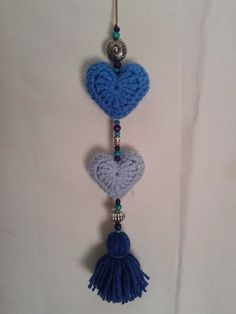 Fabric Crafts, Paper Crafts, Diy Crafts, Crochet Wall Hangings, Knitted Heart, Heart Crafts, Cute Little Things, Love Crochet, Crochet Accessories