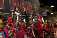 Why is Robert Downey Jr cool? He gatecrashed the kids-only Iron Man costume contest at Comicon.