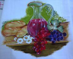 pintura em tecido e croche - Google+