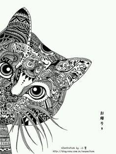 Zentangle Katze
