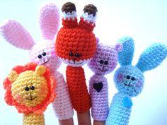 Finger Puppet  Amigurumi Crocheted Lion by AllSoCute on Etsy, $12.00