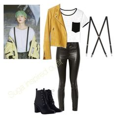 SUGA Inspired Outfit by elissachwe on Polyvore featuring polyvore fashion style Banana Republic J Brand Zimmermann clothing