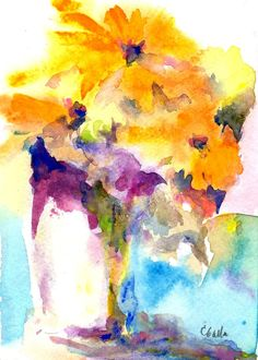 """""""Glory"""" - Watercolor Still Life  This is a pretty painting. Check out my board for additional great pins!!"""