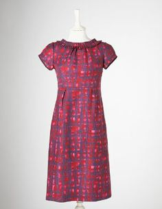 Boden Pretty Wool Shift in Ruby Painted Check Fall 2011