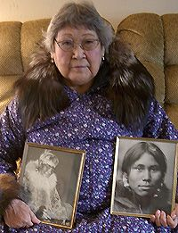 Margaret Toshavik, King Island Iñupiaq, daughter of Chief Olaranna.