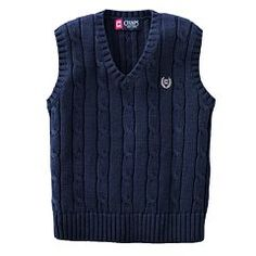 Chaps Cable-Knit Sweater Vest - Toddler Boy