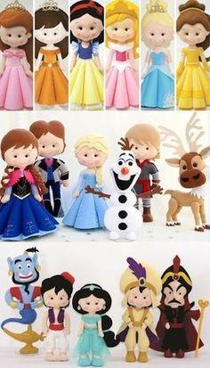 Sewing diy bag quiet books Ideas for 2019 Felt Doll Patterns, Stuffed Toys Patterns, Disney Diy, Disney Crafts, Felt Diy, Felt Crafts, Fabric Dolls, Paper Dolls, Crochet Mermaid
