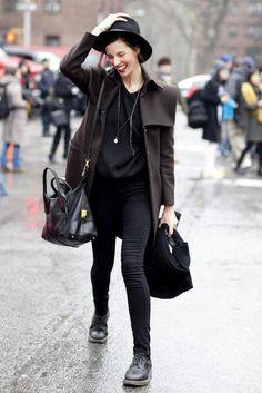 New York Fashion Week Street Style Fall 2012: Photo: Greg Kessler