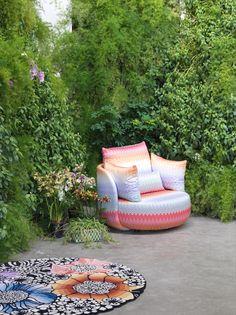 "MissoniHome ""Tiamat New"" armchair designed by Cristiano Magnoni. New collection 2016."