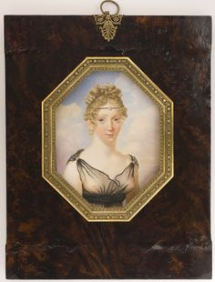 """Female portrait. C. 1805.  I always think of this is a much more conservative era, but then I see things like this and think """"Hmm, that might be fun."""""""