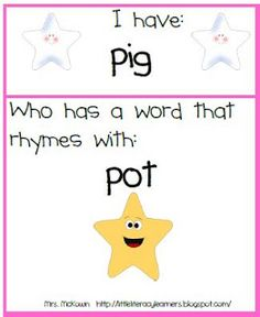 I have, who has phonemic awareness game Little Literacy Learners