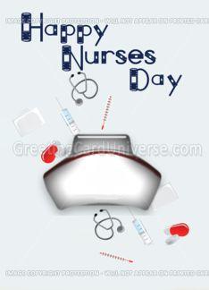 Happy Nurses Day (nurse cap) Greeting Card    http://www.greetingcarduniverse.com/holiday-cards/nurses-day-cards/general-nurses-day/greeting-card-915891?aid=142840