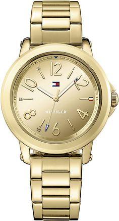 2d89e99d270cbb Tommy Hilfiger 1781751 PVD gold-plated watch Gold Watches Women
