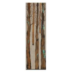 "Artist Lane Inbetween the Trees 2 by Karen Hopkins Framed Painting Print on Wrapped Canvas Size: 40"" H x 12"" W x 1.5"" D"