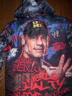 WWE John CENA Boy's Winter Puffer COAT sz 10/12 NeW Warm Hooded Jacket Wrestler  $48.99 bonanza.com