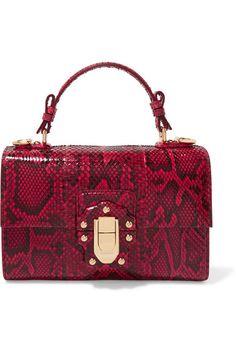 369a5b8bd472 Dolce   Gabbana - Lucia python shoulder bag