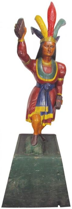 Cigar Store Indian Figure : Lot 1081