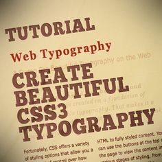 30 Useful and Cutting Edge CSS3 Text Effect and Web Typography Tutorials