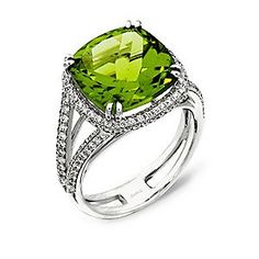 Peridot birthstone/diamond - Peridot - my birthstone.such a beautiful ring Peridot Jewelry, Birthstone Jewelry, Diamond Jewelry, Peridot Rings, Beautiful Diamond Rings, Jewelry Stores, Birthstones, Women Jewelry, Wedding Rings