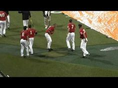 Baseball players creatively passing time during a rain delay. Too funny!!