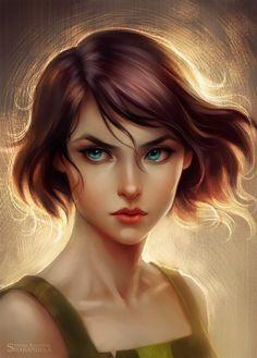 Korra by sharandula korra, character portraits, character art, character in 3d Fantasy, Fantasy Girl, Character Portraits, Character Art, Character Concept, Concept Art, Digital Art Girl, Pencil Portrait, World Of Warcraft