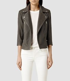 womens cropped cargo leather biker jacket blkgrey product_image_alt_text_1