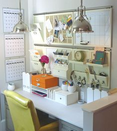 Office corner - but without the stuff on the desk - the whole point is to get it off the work surface!