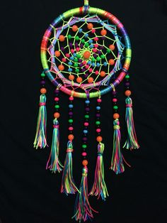 UV Reactive / Psychedelic Dreamcatchers Contact us for more details - +91 965…