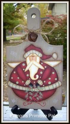 Santa Angel Wood Cutting Board HP Holiday Decoration by Primgal, $16.99