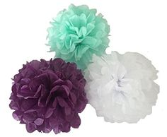 Tissue Paper Ball Decorations Heartfeel 5Pcs Tissue Paper Pompoms Flower Ball Wedding Party
