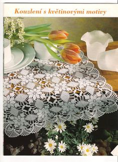 Interesting ideas for decor: Crochet tablecloth Thread Crochet, Knit Or Crochet, Filet Crochet, Irish Crochet, Crochet Motif, Crochet Designs, Hand Crochet, Crochet Snowflake Pattern, Doily Patterns