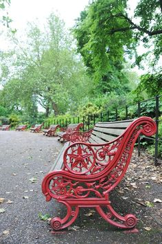 Park bench in London - I want to take this shot when I go