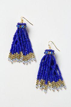 Bead Tassel Earrings #anthropologie SALE $19.95