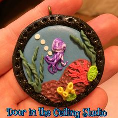 Hey, I found this really awesome Etsy listing at https://www.etsy.com/listing/243850936/polymer-clay-coral-reef-pendant-ooak