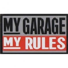 My Garage My Rules Rectangle Embossed #Magnet.