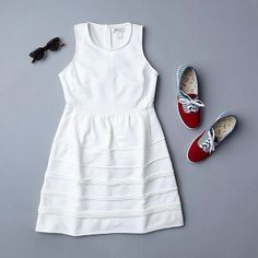 Play down a white dress with new @Kerry Aar Veitch on the block. #coolkid #casual