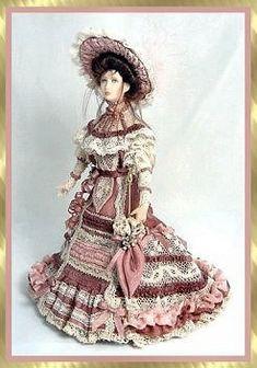 Edwardian Rose - Miniature Doll. Rose by Stacy Hofman