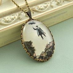 Mr Poppins Vintage Image Necklace -by Penny Masquerade.
