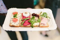 Chlebíček = Open-faced sandwich. This array is from Sisters Bistro (www.chlebicky-praha.cz). Picture is from Taste of Prague (tasteofprague.com). #CzechFood