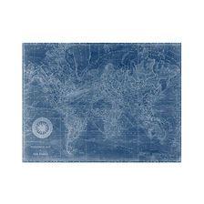 World Map I Navy |