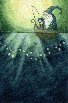 Harry and Dumbledore art