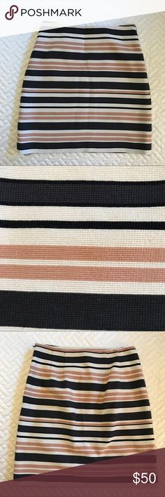 Ann Taylor LOFT striped skirt, size 2 Ann Taylor LOFT striped textured skirt size 2. LOFT Skirts