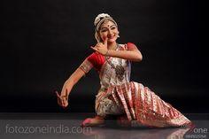 Bharathanatyam dancer's sitting pose