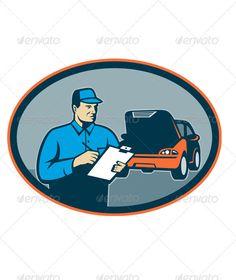 VECTOR DOWNLOAD (.ai, .psd) :: http://jquery-css.de/pinterest-itmid-1001550185i.html ... Automotive Mechanic Repairman Repair Car ...  automotive, breakdown, car, clipboard, garage, illustration, man, mechanic, repair, repairman, retro, service, shop, technician, vector  ... Vectors Graphics Design Illustration Isolated Vector Templates Textures Stock Business Realistic eCommerce Wordpress Infographics Element Print Webdesign ... DOWNLOAD…