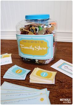 Family Store - This is so adorable! All kinds of free printables and ideas!