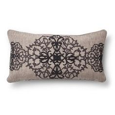 "HER Carina Steel Dec Pillow - Grey (14""x26"")"