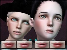 Lips Set 2 for kids by ShojoAngel - Sims 3 Downloads CC Caboodle