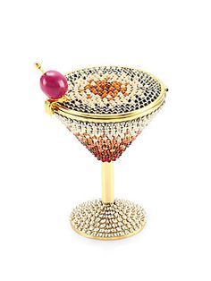 Judith Leiber Couture Martini Pill Box